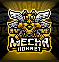 Mecha hornet esport mascot logo design vector