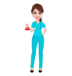 Medical doctor woman medicine healthcare concept vector