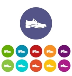 Men shoe set icons vector image