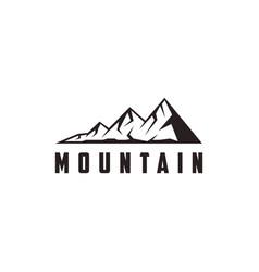 outdoor adventure mountain peak summit logo icon vector image