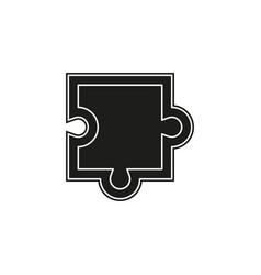 puzzle piece icon puzzle vector image