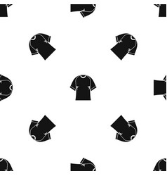 Raglan tshirt pattern seamless black vector