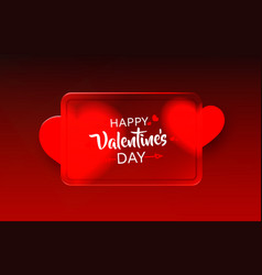 red heart happy valentines day greeting card vector image
