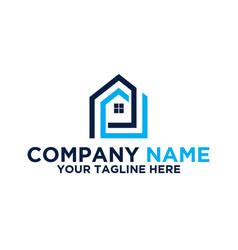 Residential mortgage logo vector