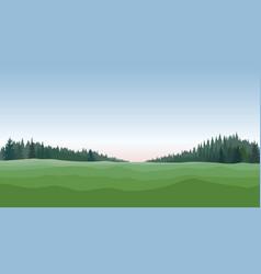 rural landscape countryside nature skyline vector image