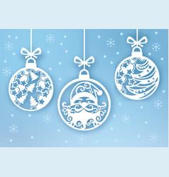 Santa claus inside christmas ball may use it for vector