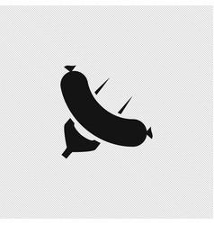 Sausage icon simple vector