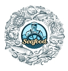 seafood or food vector image