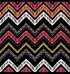 seamless ethnic zigzag chevron pattern vector image
