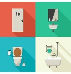 Simple of bathroom vector image