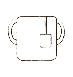 Sketch draw cup tea handle beverage vector