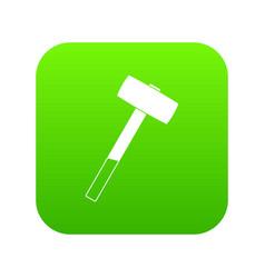 Sledgehammer icon digital green vector
