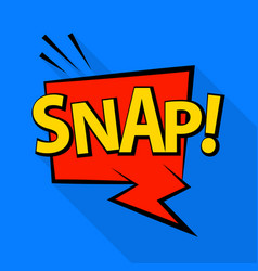 Snap icon pop art style vector