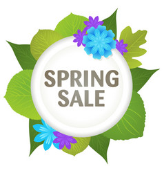 spring sale symbol vector image