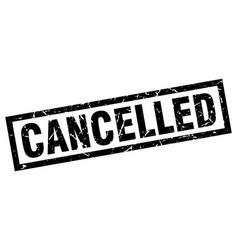 Square grunge black cancelled stamp vector