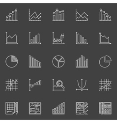 Statistics icons collection vector image