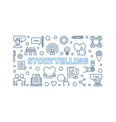 storytelling concept horizontal outline vector image