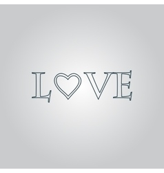 Stylized text Love vector image