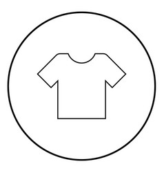 t-shirt icon black color simple image vector image