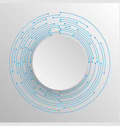 tech circle and technology background vector image
