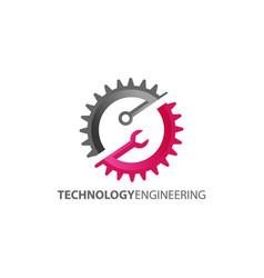 technology engineering logo design vector image