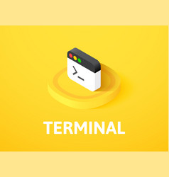 terminal isometric icon isolated on color vector image