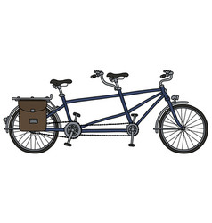 the blue tandem bicycle vector image