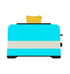 Toaster icon card vector
