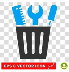 Tools Bucket Eps Icon vector image