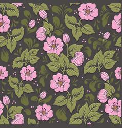 volumetric flower seamless pattern element vector image