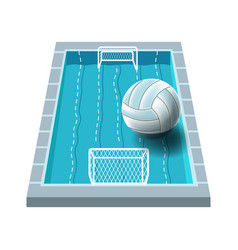 water polo isolated icon swimming pool with gates vector image