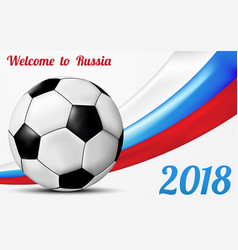 Welcome to russia greeting background design vector