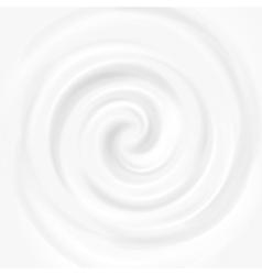White milk yogurt cosmetics product swirl cream vector image