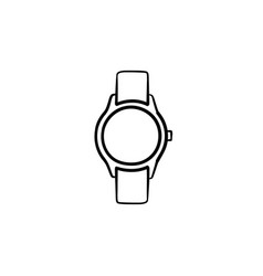 wrist watch hand drawn sketch icon vector image