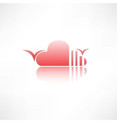 abstract cloud icon vector image