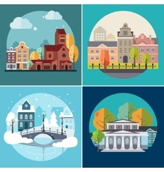 City and Town Buildings Landscapes vector image vector image