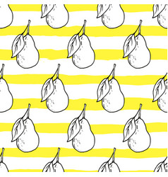 fresh pear seamless pattern vector image vector image