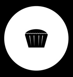 great cupcake simple black and green icon eps10 vector image vector image