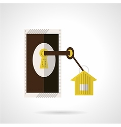 Housing agency icon flat style vector image vector image