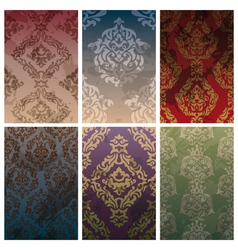 seamless vintage backgrounds vector image vector image