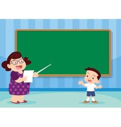 Teacher and studen vector