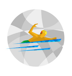 physically disabled swimmer flat sport icon vector image