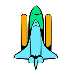space shuttle icon icon cartoon vector image vector image