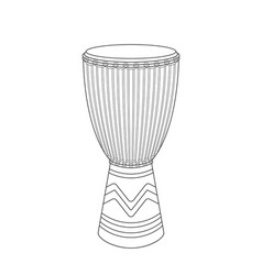 djembe sketch vector image