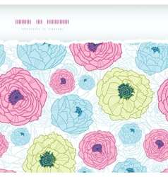 Lovely flowers horizontal torn seamless pattern vector image