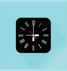 modern black wall clock vector image