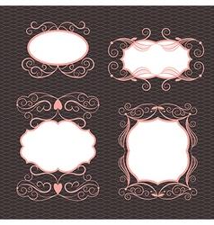 Set of ornamental design elements vector image vector image