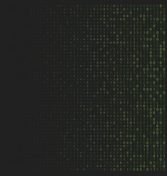 Binary code halftone background zero and one vector