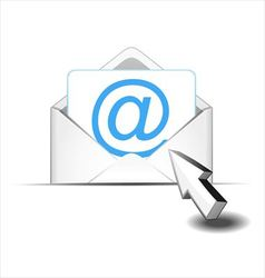 Click e mail vector image