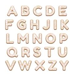 Cookies Alphabet vector image
